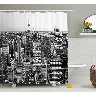 Varick Gallery Bequette New York Manhattan Shower Curtain; 69'' W x 70'' L