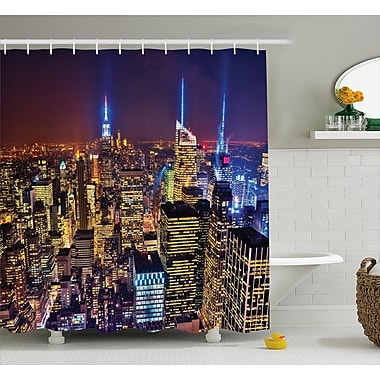 Varick Gallery Bequette Fourth of July Day USA Shower Curtain; 69'' W x 70'' L