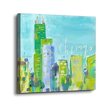 Varick Gallery 'Chicago' Graphic Art Print on Canvas; 24'' H x 24'' W x 2'' D