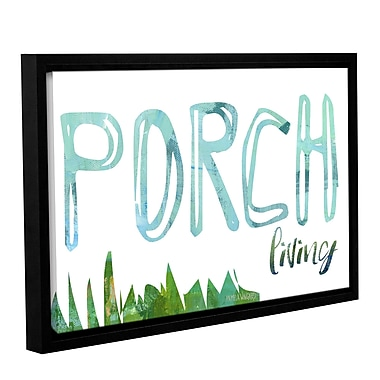 Varick Gallery 'Porch Living' Framed Textual Art on Canvas; 24'' H x 36'' W x 2'' D