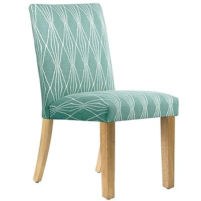 Varick Gallery Aspasia Side Chair; Blue
