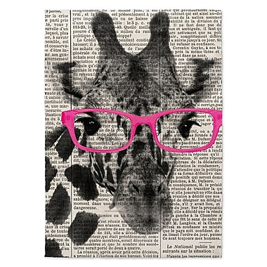 Varick Gallery Balcom Giraffe in Glasses Area Rug; 8' x 10'