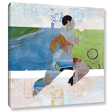 Varick Gallery 'Runner' Painting Print on Wrapped Canvas; 18'' H x 18'' W
