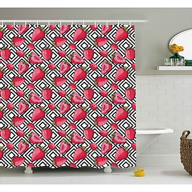 Varick Gallery Ballew Chevron Striped Decor Shower Curtain; 69'' W x 70'' L