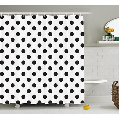 Varick Gallery Baltzell Polka Dots Art Shower Curtain; 69'' W x 84'' L