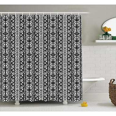 Varick Gallery Bangs Ethnic Boho Aztec Decor Shower Curtain; 69'' W x 70'' L
