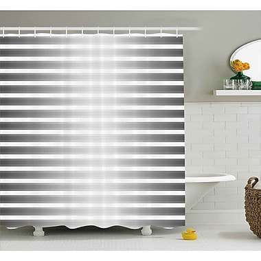 Varick Gallery Bane Robot Paint Stripes Shower Curtain; 69'' W x 70'' L
