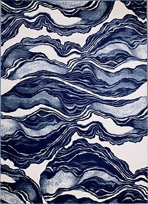 Varick Gallery Cretys Marble Linen Area Rug; Runner 2' x 7'