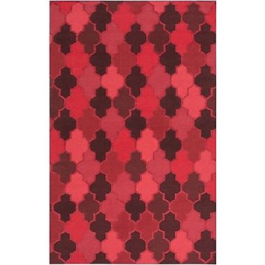 Varick Gallery Crispin Cherry Geometric Area Rug; 3'6'' x 5'6''