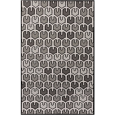 Varick Gallery Criss Gray Geometric Area Rug; 3'3'' x 5'3''