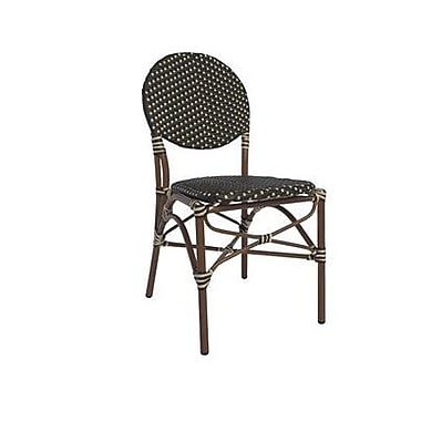 Varick Gallery Birge Cafe Stacking Dining Side Chair; Black