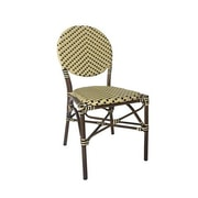 Varick Gallery Birge Cafe Stacking Dining Side Chair; Cream
