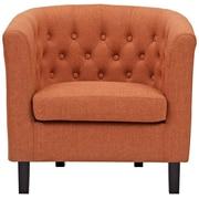 Varick Gallery Birnbaum Chesterfield Chair; Orange
