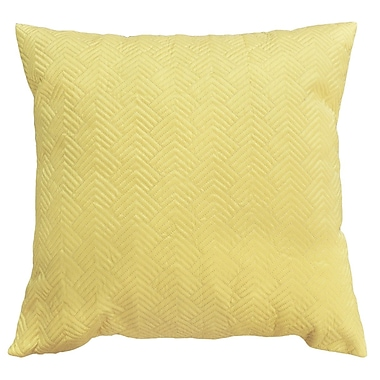 Varick Gallery Bishopville Quilted Throw Pillow (Set of 2); Light Yellow