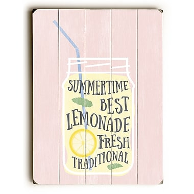 Varick Gallery 'Summertime Lemonade' Textual Art on Wood; 16'' H x 12'' W x 1.5'' D