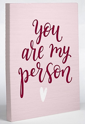 Varick Gallery 'You Are My Person' Textual Art on Canvas; 20'' H x 16'' W x 1.5'' D