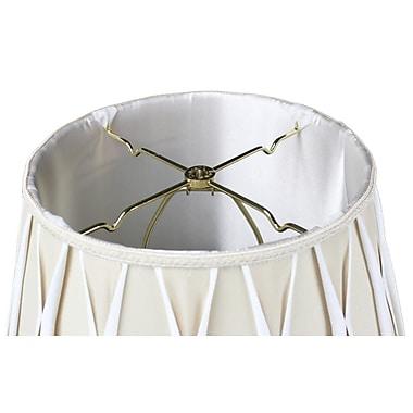 Varick Gallery Blakeley 1-Light LED Inverted Pendant; Beige/Off-White
