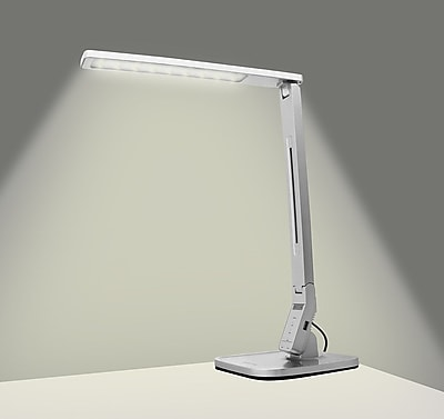 Varick Gallery Fenley LED Desk Lamp; Silver