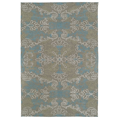Varick Gallery Chew Magna Gray/Turquoise Area Rug; 5' x 7'