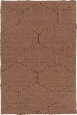Varick Gallery Belle Hand-Woven Dark Brown Area Rug; 8' x 10'