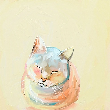 Varick Gallery 'Feline Friends' Print on Wrapped Canvas; 21'' H x 21'' W