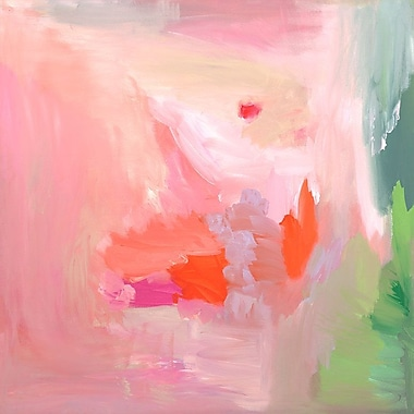 Varick Gallery 'In the Pink' Print on Wrapped Canvas; 10'' H x 10'' W
