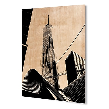 Varick Gallery 'Freedom Tower' Graphic Art Print on Wood; 24'' H x 20'' W