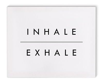 Varick Gallery 'Inhale' Textual Art on Canvas; 16'' H x 20'' W