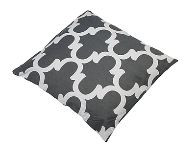 Varick Gallery Shreve Trellis 100pct Cotton Throw Pillow; Charcoal