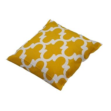 Varick Gallery Shreve Trellis 100pct Cotton Throw Pillow; Yellow