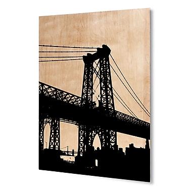 Varick Gallery 'NYC' Rectangular Graphic Art Print on Wood; 24'' H x 20'' W