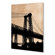Varick Gallery 'NYC' Rectangular Graphic Art Print on Wood; 24'' H x 20'' W