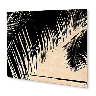 Varick Gallery 'Palm Trees' Graphic Art Print on Wood Cityscape; 16'' H x 20'' W