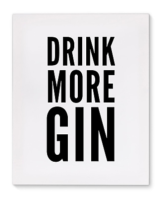 Varick Gallery 'Gin' Textual Art on Canvas; 20'' H x 16'' W