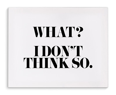 Varick Gallery 'Think So' Textual Art on Canvas; 16'' H x 20'' W