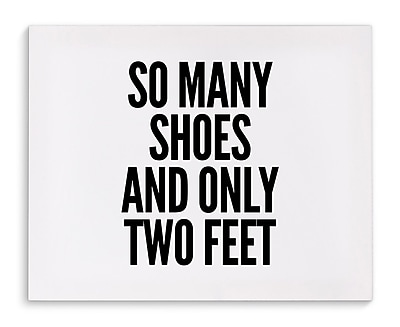 Varick Gallery 'Two Feet' Textual Art on Canvas; 8'' H x 10'' W