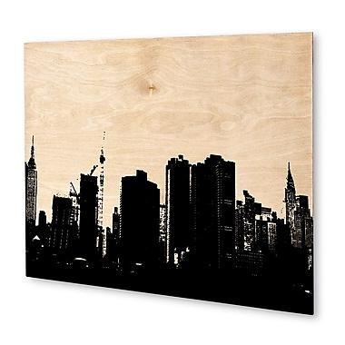 Varick Gallery 'NYC' Graphic Art Print on Wood; 20'' H x 24'' W