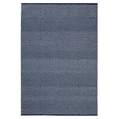 Varick Gallery Criswell Dark Blue Area Rug; 3' x 5'