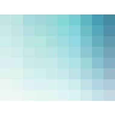 Varick Gallery 'Square Spectrum in Aqua' Graphic Art Print; 18'' H x 24'' W