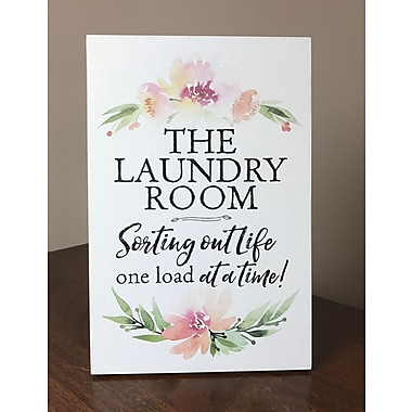 Varick Gallery 'The Laundry Room--Sorting Out Life One Load at a Time' Textual Art on Wood