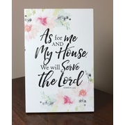 Varick Gallery 'As for Me and My House, We Will Serve the Lord. Joshua 24:15' Textual Art on Wood
