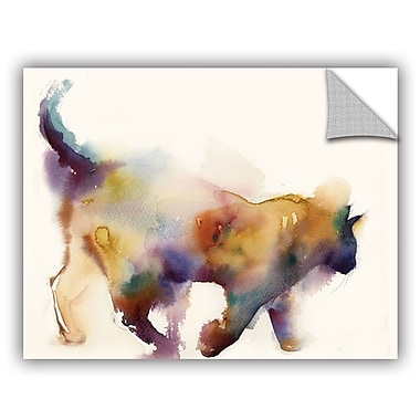 Varick Gallery Cronan Curious Cat Wall Decal; 18'' H x 24'' W x 0.1'' D