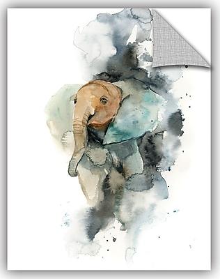 Varick Gallery Cronan Baby Elephant Wall Decal; 18'' H x 14'' W x 0.1'' D