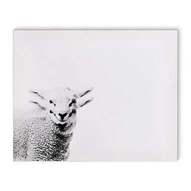 Varick Gallery 'Lamb' Graphic Art Print on Canvas; 8'' H x 10'' W