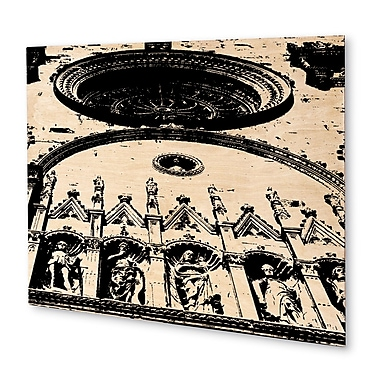 Varick Gallery 'Lake Como Italy Cathedral' Rectangle Graphic Art Print on Wood; 16'' H x 20'' W