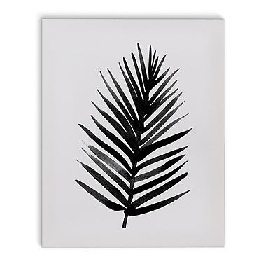 Varick Gallery 'Tropic' Painting Print on Canvas in Black and White; 36'' H x 24'' W