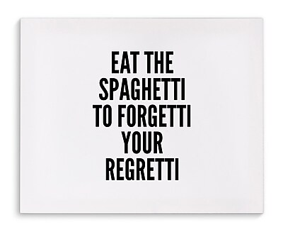 Varick Gallery 'Spaghetti' Textual Art on Canvas; 8'' H x 10'' W