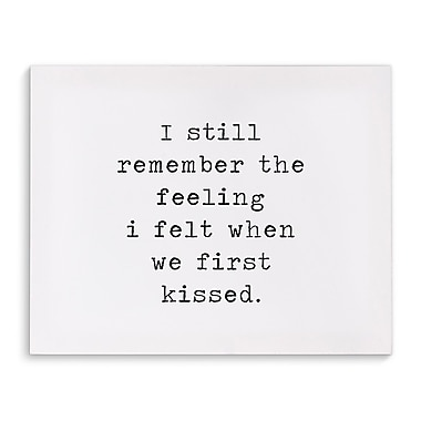 Varick Gallery 'First Kiss' Textual Art on Canvas; 24'' H x 36'' W