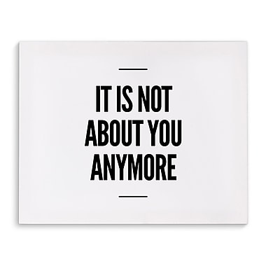Varick Gallery 'Anymore' Textual Art on Canvas; 24'' H x 36'' W