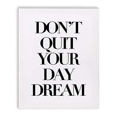 Varick Gallery 'Day Dream' Textual Art on Canvas; 10'' H x 8'' W